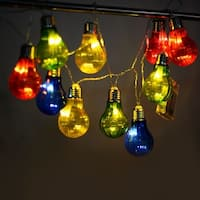 Costway Christmas Xmas 10 LED String Ball Lights Wedding Party Decor Fairy Lamp Colorful