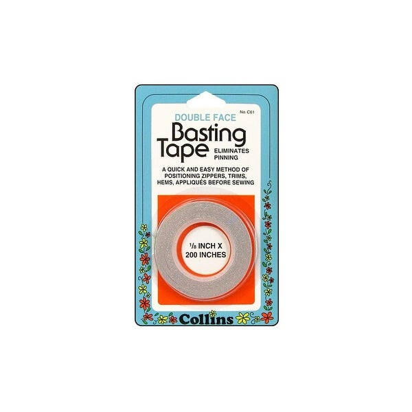 """Collins Basting Tape Double Sided 1/8x200"""""""