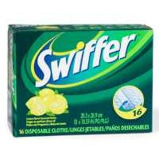 Procter & Gamble 37362 Lemon Swiffer Refill Cloths, 16/Box