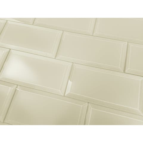 """Miseno MT-WHSFEM0306-CE Frosted Elegance - 3"""" x 6"""" Rectangle Wall Tile - Matte Visual - Beige"""