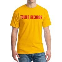 Tower Records Horizontal Men's Gold T-shirt