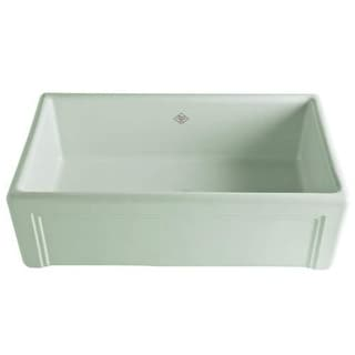 "Rohl RC3017 Shaws 30"" Single Basin Farmhouse Fireclay Kitchen Sink with Decorati"