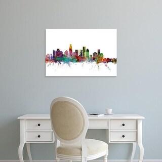 Easy Art Prints Michael Tompsett's 'Los Angeles California Skyline' Premium Canvas Art