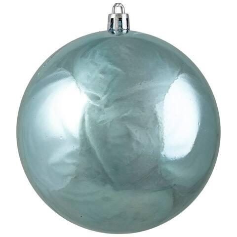 "Shiny Blue Shatterproof Christmas Ball Ornament 4"" (101.6mm)"