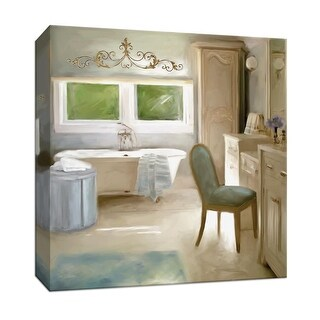 """PTM Images 9-147407  PTM Canvas Collection 12"""" x 12"""" - """"French Bath"""" Giclee Bathroom Art Print on Canvas"""