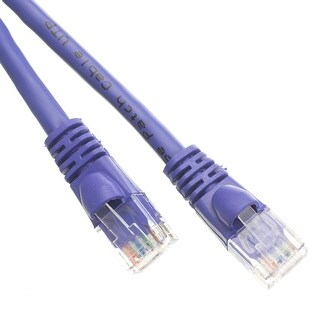 Offex Cat6 Purple Ethernet Patch Cable, Snagless/Molded Boot, 2 foot