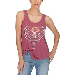 Lucky Brand Womens Pullover Top Graphic Sleeveless - xL