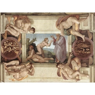 Easy Art Prints Michelangelo's 'Creation of Eve, Sistine Chapel' Premium Canvas Art