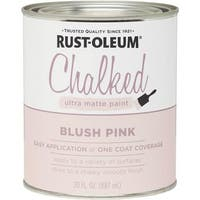 Rust-Oleum Blush Pink Chalked Paint 285142 Unit: QT