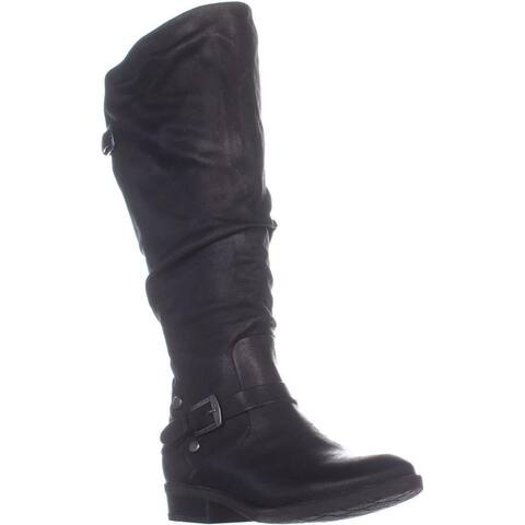 BareTraps Yanessa2 Wide Calf Knee High Boots, Black