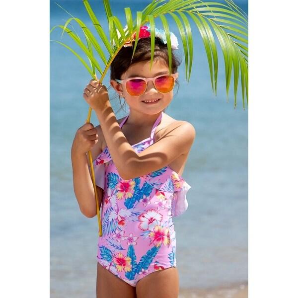 Sun Emporium Paradise Print Halter Ruffles Swimsuit Baby Girls. Opens flyout.