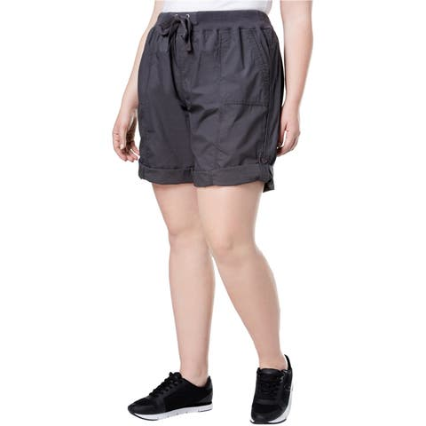 Calvin Klein Womens Convertible Casual Cargo Shorts