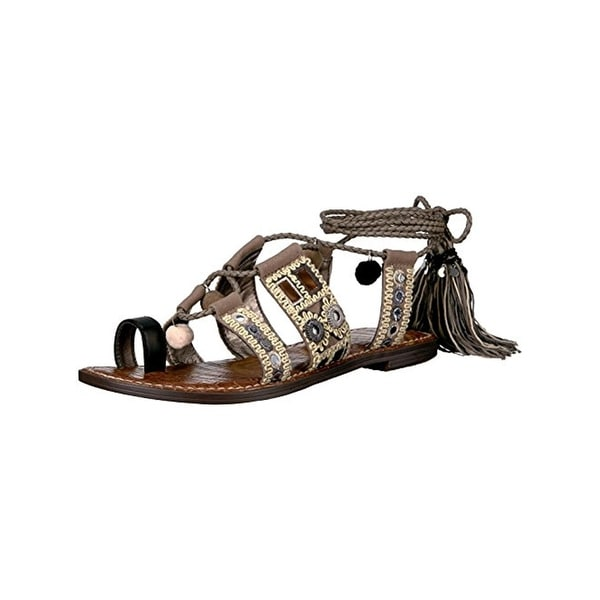 f206ac4f3d781a Shop Sam Edelman Womens Gretchen Flat Sandals Canvas Leather - Free ...