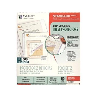 "C-Line Sheet Protector 8.5x11"" Top Load Clear"