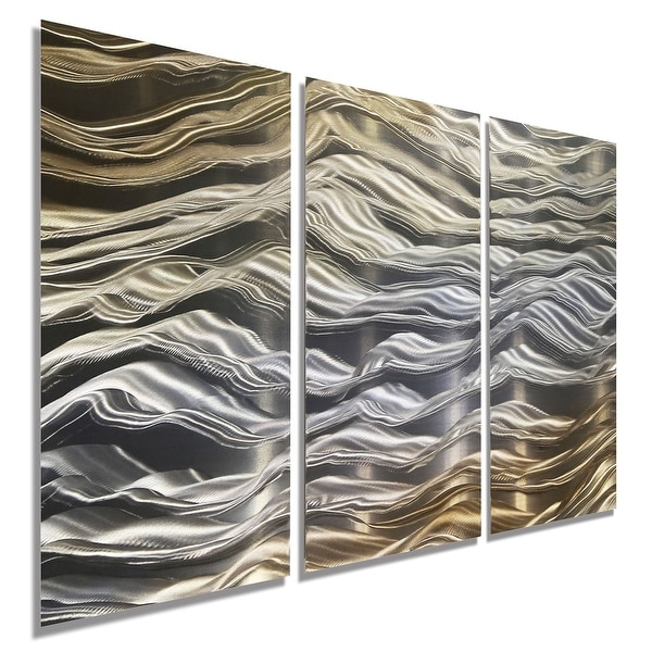 Shop Statements2000 Silver/Gold Contemporary Metal Wall Art Panels ...