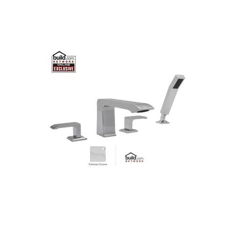 Rohl CA2211LM Caswell Double Handle Deck Mounted Tub Filler -