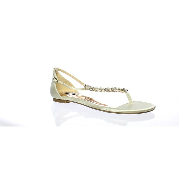 d72bcdd42351 Shop Badgley Mischka Womens Holbrook Ivory T-Strap Sandals Size 7.5 ...