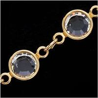 SWAROVSKI ELEMENTS Gold Plated Channel Crystal Chain Crystal 6.8mm BY THE FOOT