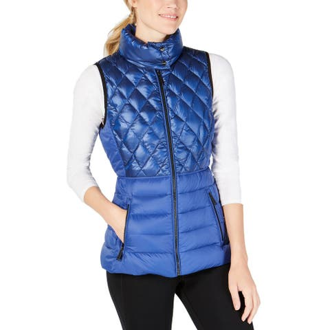 Calvin Klein Performance Women's Quilted Down Vest (Blue, Small)