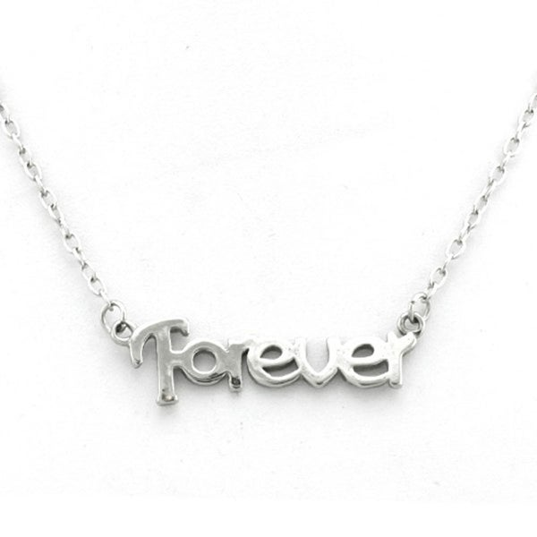 Stainless Steel Inspirational - FOREVER - Necklace - 16 inches