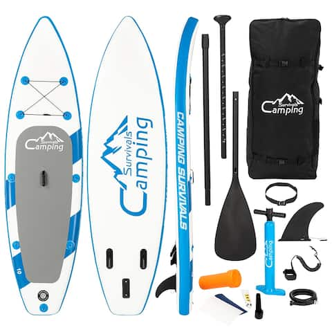 """Campingsurvivals 10' Inflatable Stand Up Paddle Board (6"""" Thick)"""