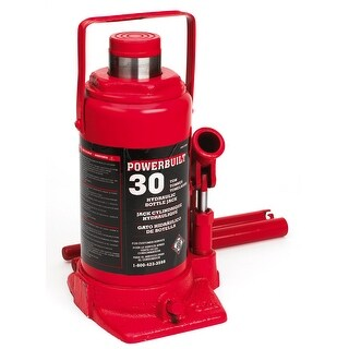 Powerbuilt Hydraulic Bottle Jack, 30 Ton Capacity - 647505