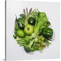 Premium Thick-Wrap Canvas entitled A selection of green fruits