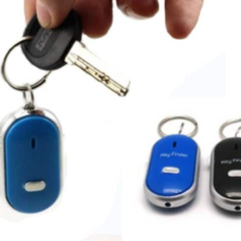 Lost Keys Finder Alarm Locator Tracker Whistle Sound Control LED Tracer Seeker
