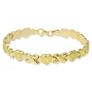 Shop Mcs Jewelry Inc Yellow Stampato Xoxo Friendship and Relationship  Bracelet , Free Shipping Today , Overstock.com , 13863780
