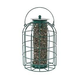 Sunnydaze Green Wire Squirrel-Proof Bird Feeder