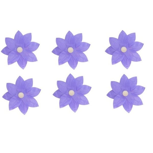 Shop Pack Of 6 Lavender Floating Lotus Paper Flower Outdoor Patio