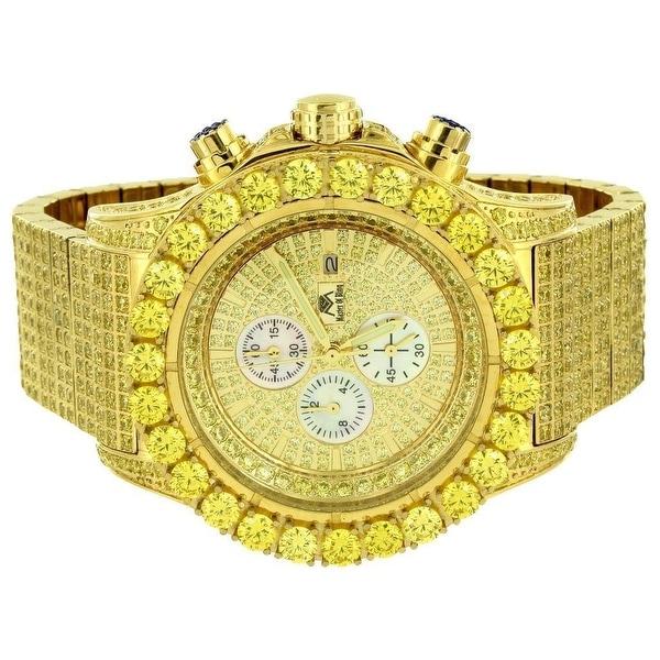 New Master Of Bling Jojino Joe Rodeo Lab Canary Diamond Watch 48MM BR-02 - Yellow