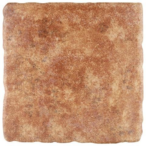 "SomerTile Costa Marron 7.75"" x 7.75"" Ceramic Floor and Wall Tile"