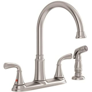American Standard 7408400.075 Tinley 2-Handle High-Arc Kitchen Faucet with Separate Side Spray, Stainless Steel