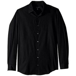 Van Heusen Mens Long Sleeves Shadow Stripe Button-Down Shirt - 2XL
