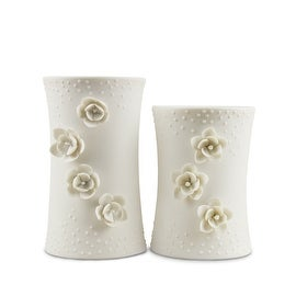 Silvestri White Porcelain Candle Holders