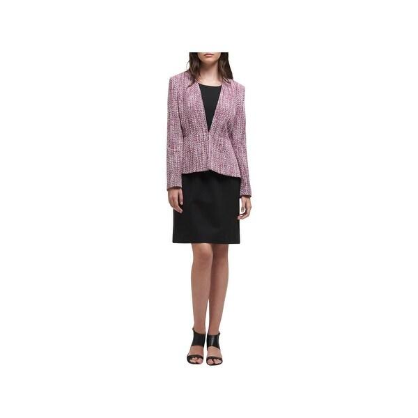 DKNY Womens Peplum Jacket Peplum Textured