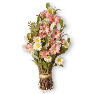 National Tree RAS-SAM8033 16 in. Spring Floral Bouquet