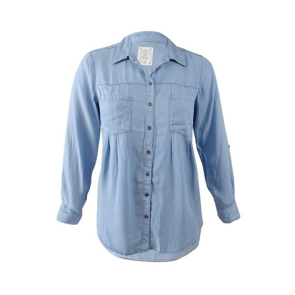9660b8a4414 Shop Style   Co. Women s Plus Size Denim Shirt (0X