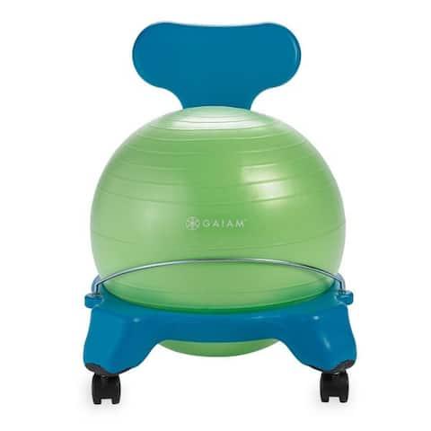 Gaiam 05-62241 gaiam kids classic balance ball chair 38cm blue/green