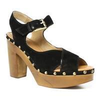 Corso Como Womens Black Peep Toe Heels Size 9.5