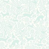 Brewster HAS01234 Anahi Aqua Forest Fauna Wallpaper - aqua forest - N/A