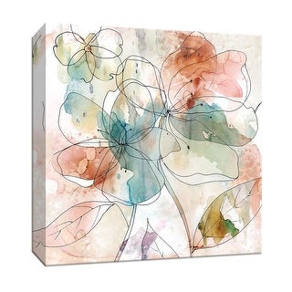 """PTM Images 9-147915  PTM Canvas Collection 12"""" x 12"""" - """"Floral Flow II"""" Giclee Flowers Art Print on Canvas"""