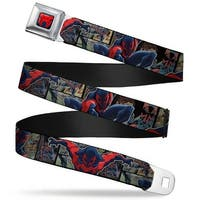 Ultimate Spider Man Spider Man 2099 Spider Logo Full Color Navy Red Spider Seatbelt Belt