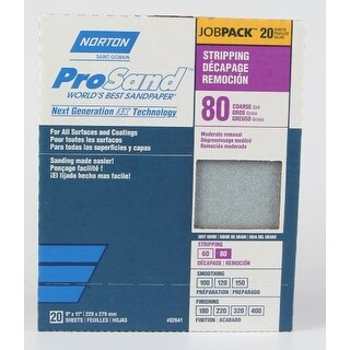 Norton 50611-038 ProSand Sandpaper, 80 Grit