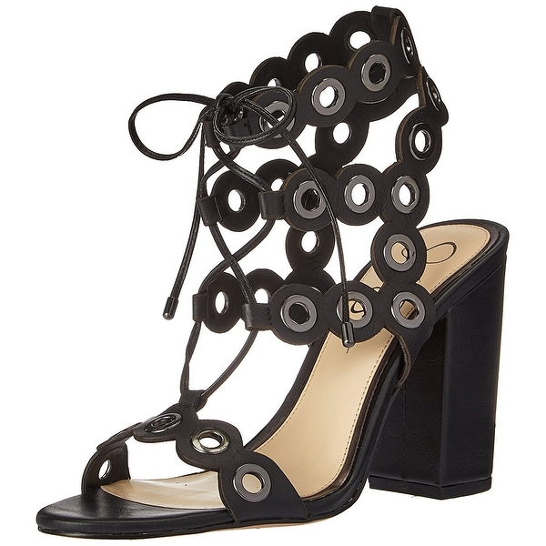 Jessica Simpson Womens Kariss Leather Open Toe Casual Strappy Sandals