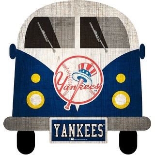 "New York Yankees Team Bus 12"" Wooden Sign"