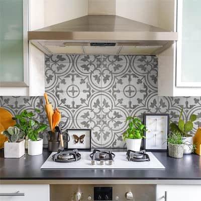 "SomerTile Arte Loire Silver 9.75""x 9.75""Porcelain Floor and Wall Tile"