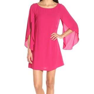 Jessica Simpson NEW Pink Women 8 Embellished Flutter Sleeve Shift Dress