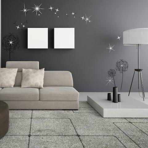 Walplus Wall Sticker Huge Black Dandelion Swarovski Crystal Home Decor